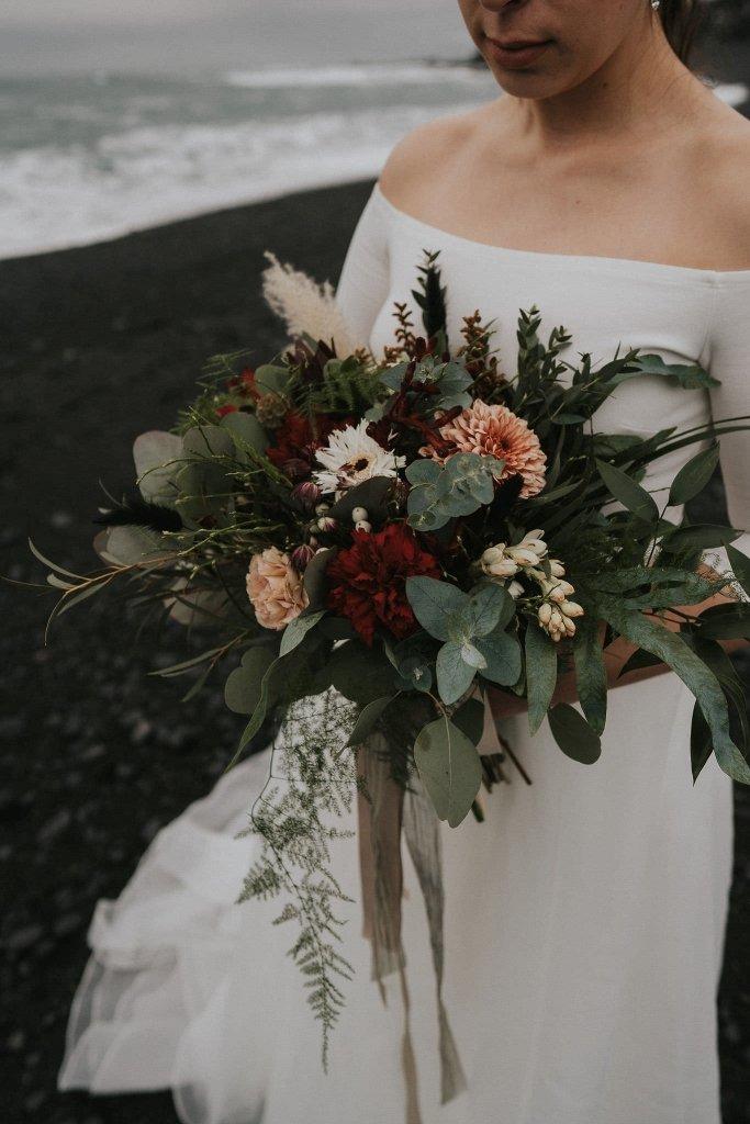 Budir Church Iceland Wedding Winter Elopement Wandering Wedding