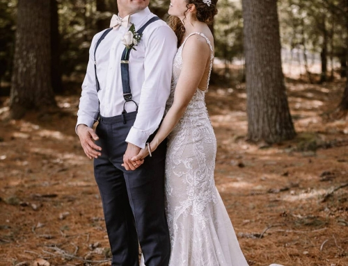 Romantic Elopement at Home at New Hampshire Lake House