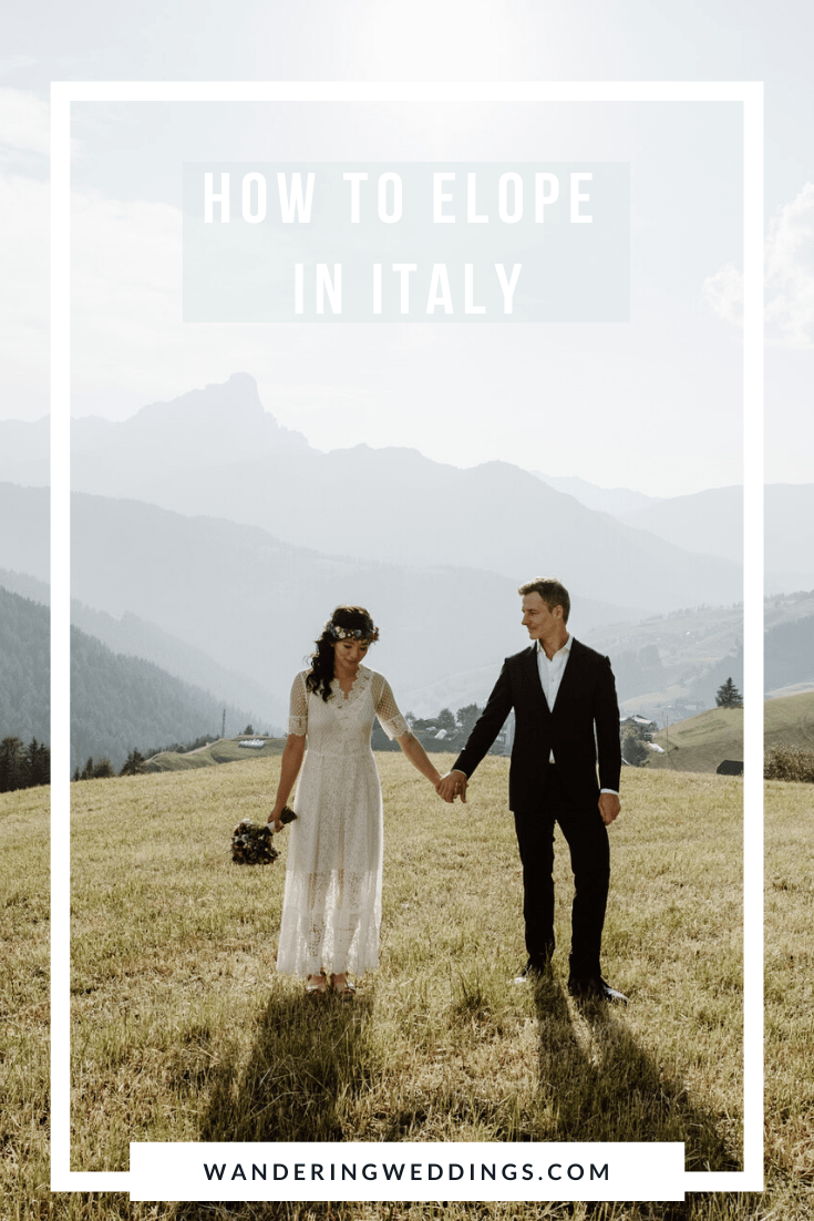 planning an Italy elopement