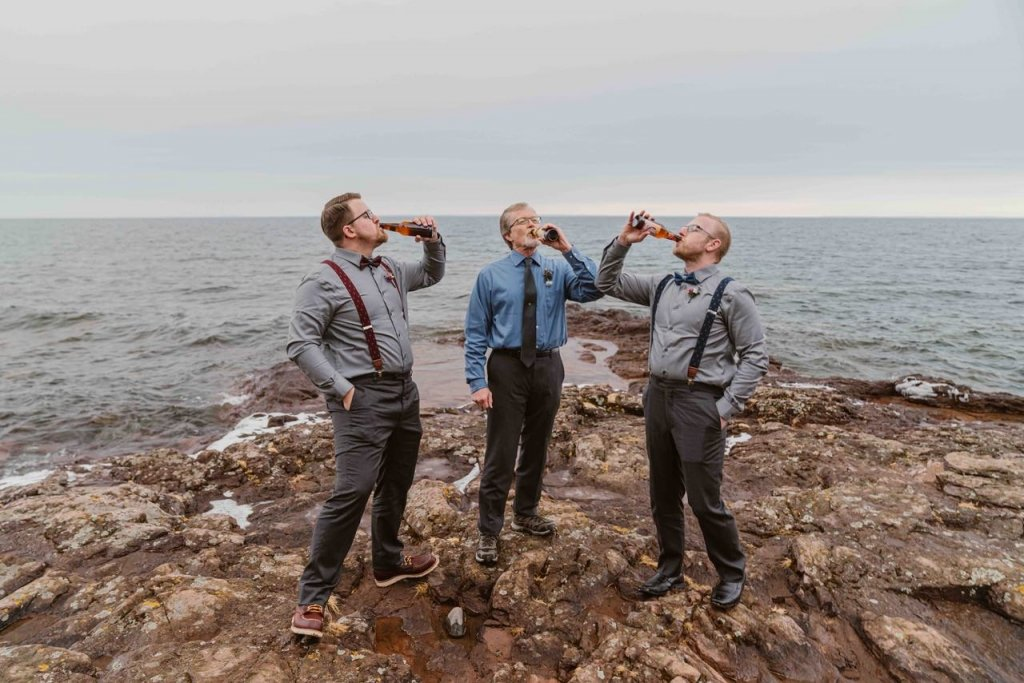 post elopement party - seaside celebrations