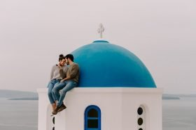 Inspiration for Your Santorini Engagement Photos