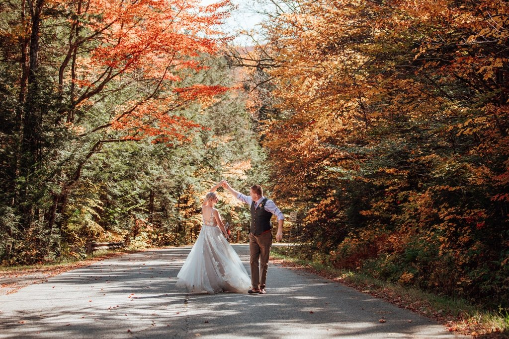first dance in Vermont during elopement