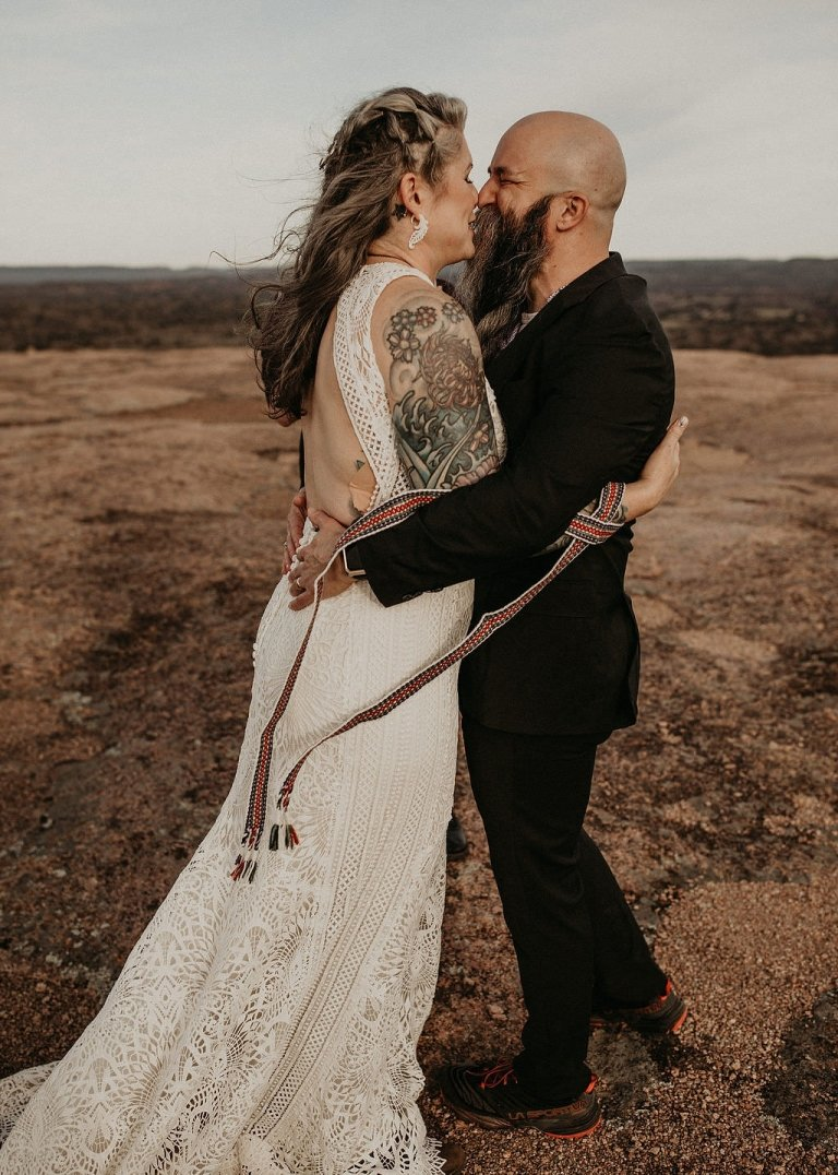handfasting wedding ceremony at enchanted rock