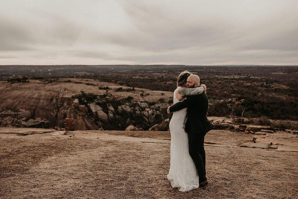 handfasting wedding ceremony at enchanted rock