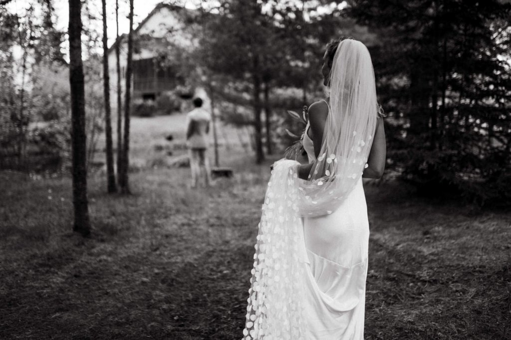 first look moment during elopement