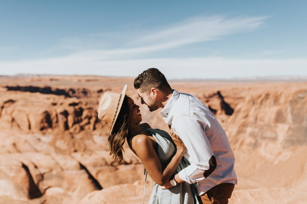 fun engagement photos in Arizona