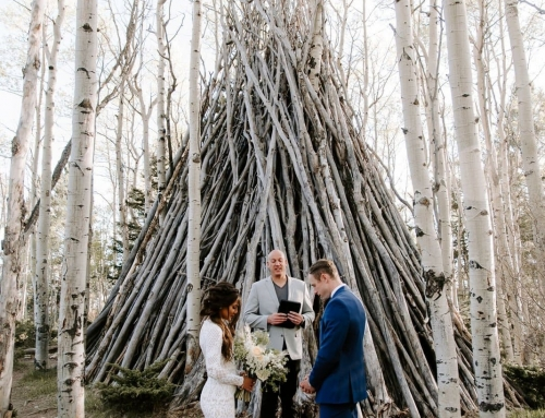Santa Fe Elopement Hidden Within The Teepee Trees