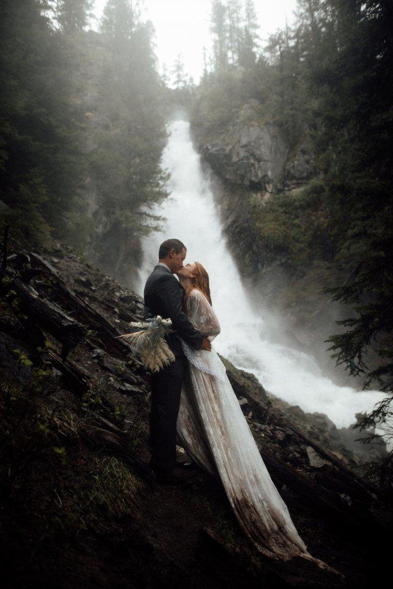 waterfall elopement photos