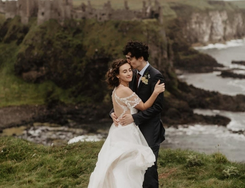 Cliffside Dunluce Castle Elopement With Family