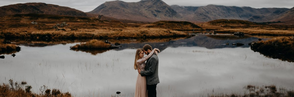 Traditional Celtic Handfasting for This Glencoe Engagement