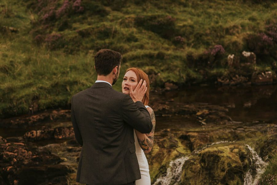 Intimate and emotional Scottish Elopement on Isle of Skye