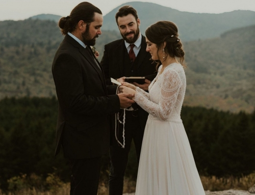 Intimate Black Balsam Knob Wedding