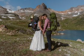 Backpack Wedding Adventure in the Colorado Mountains