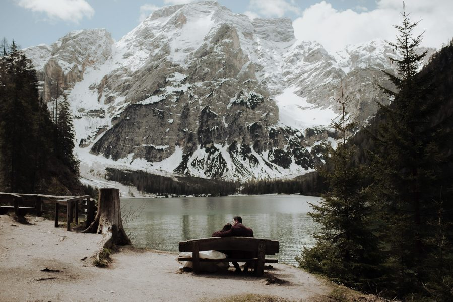 Lake Braies Elopement in the Dolomites