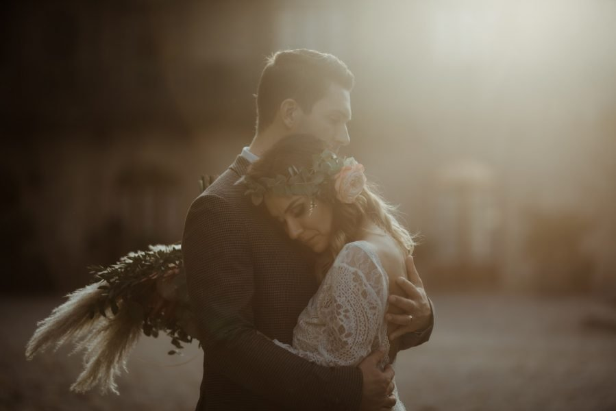 Rivalta Castle Elopement in Italy at sunset