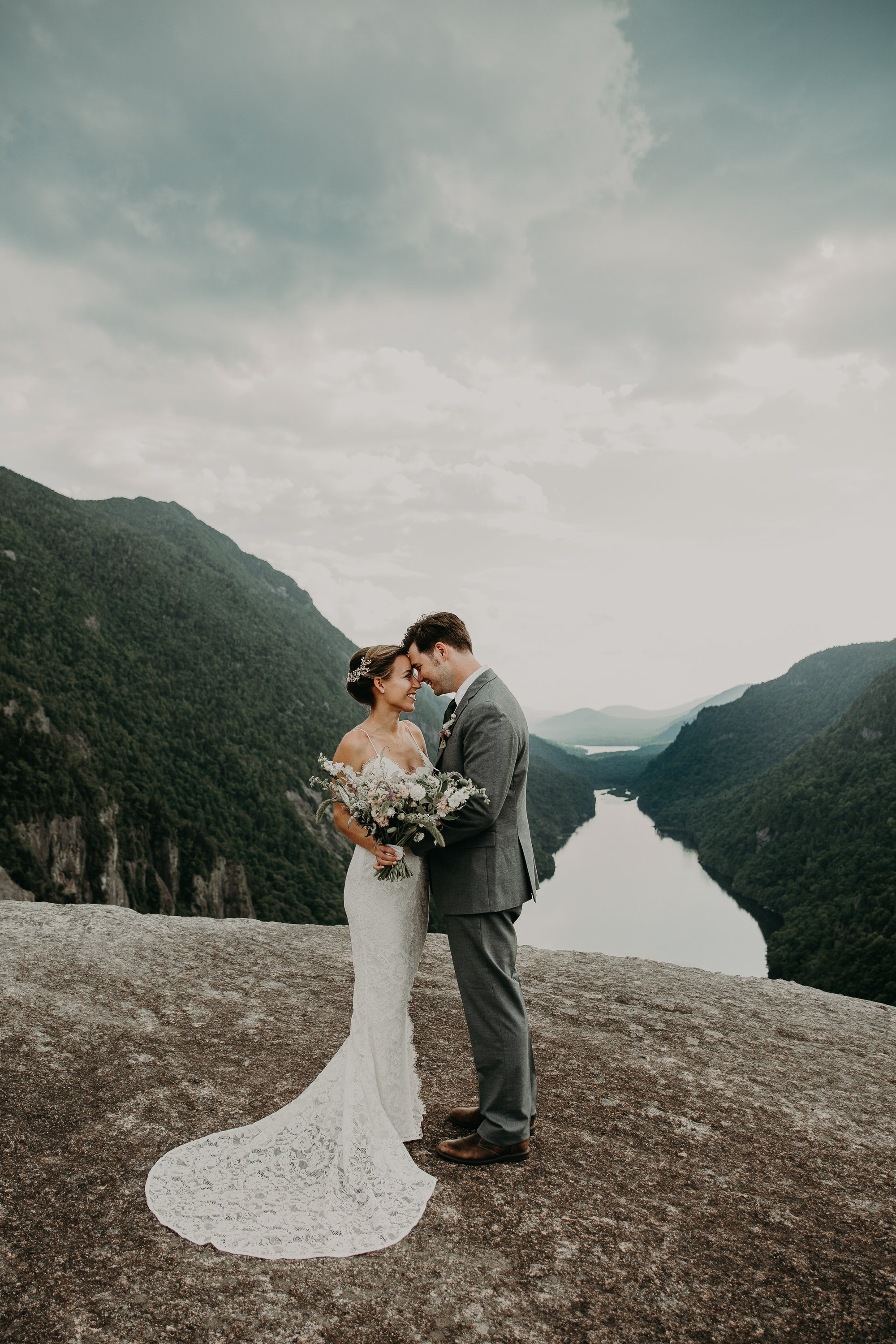 Adventurous Elopement on Indian Head Mountain in the Adirondacks of Upstate New York for new york elopement packages