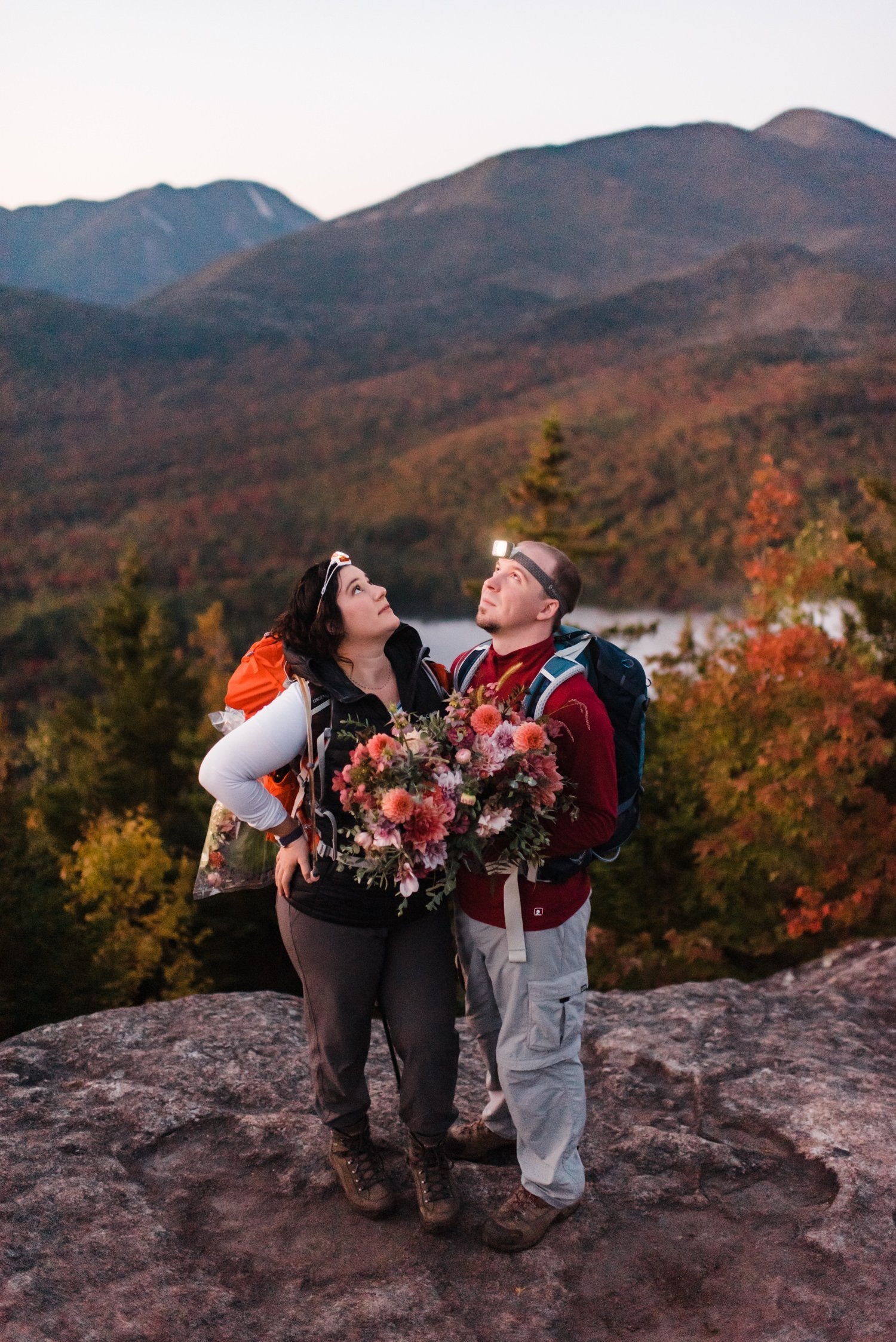 lake placid area during fall elopement adventure in New York