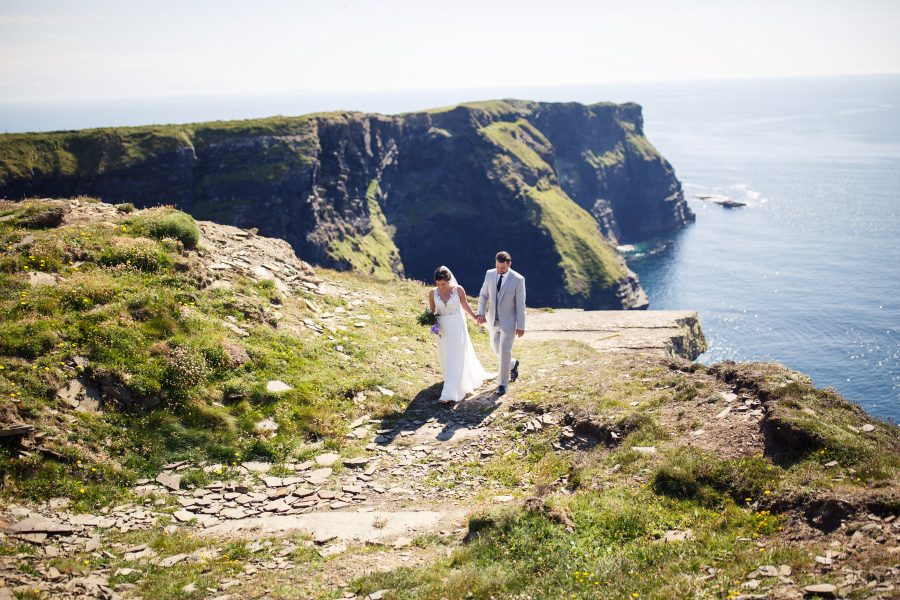 Adventure Elopement at the Cliffs of Moher