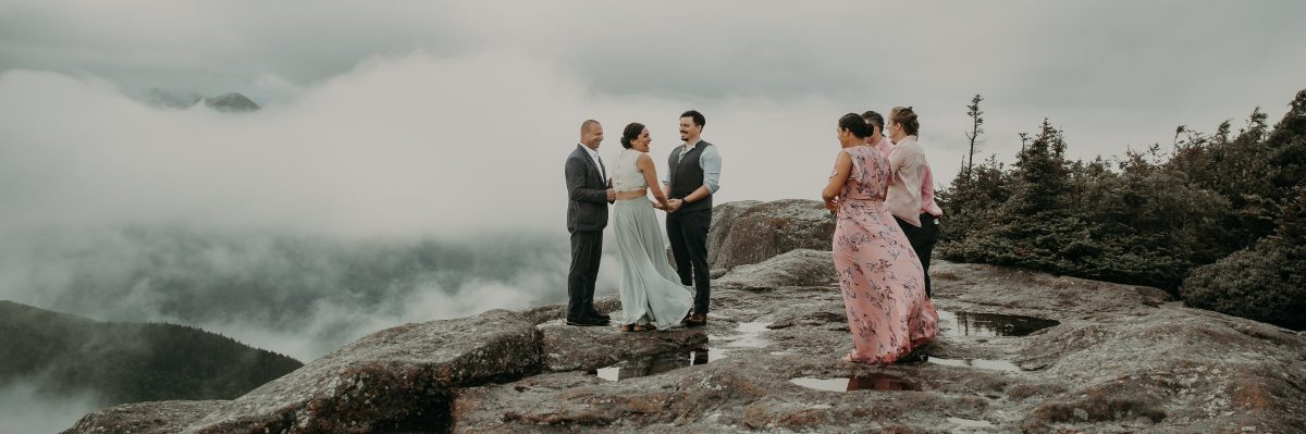 This Foggy Adirondack Wedding With Friends Will Make You Tear Up