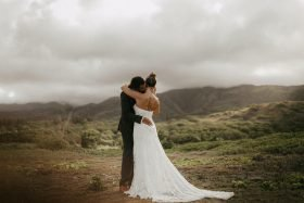 Sunrise Elopement at the Beach to Waihee Coastal Dunes in Maui, Hawaii