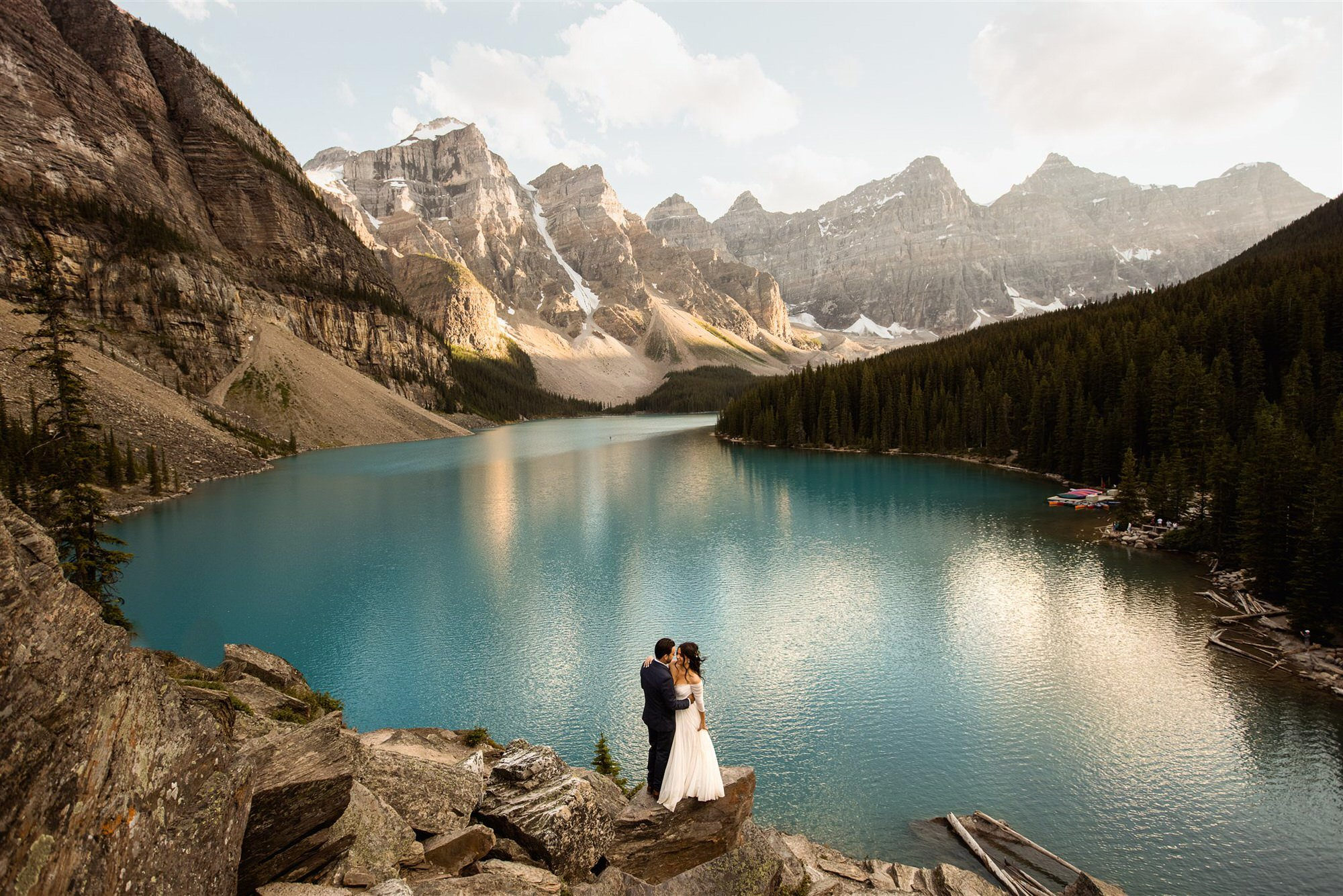 elopement photography at Banff of couple