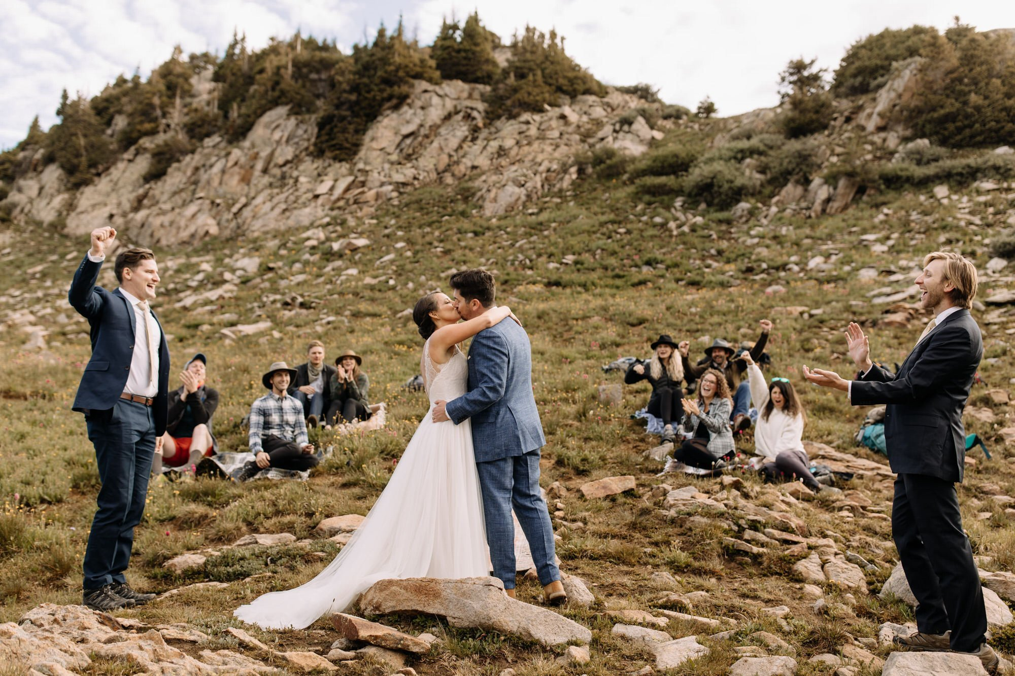 Telluride wedding ceremony in Colorado with family and friends