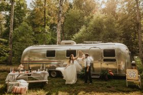 Intimate Airstream Elopement Session With Their Adorable Pup in Knoxville, Tennessee