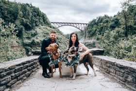 Letchworth State Park Elopement With Family and Two Adorable Pups