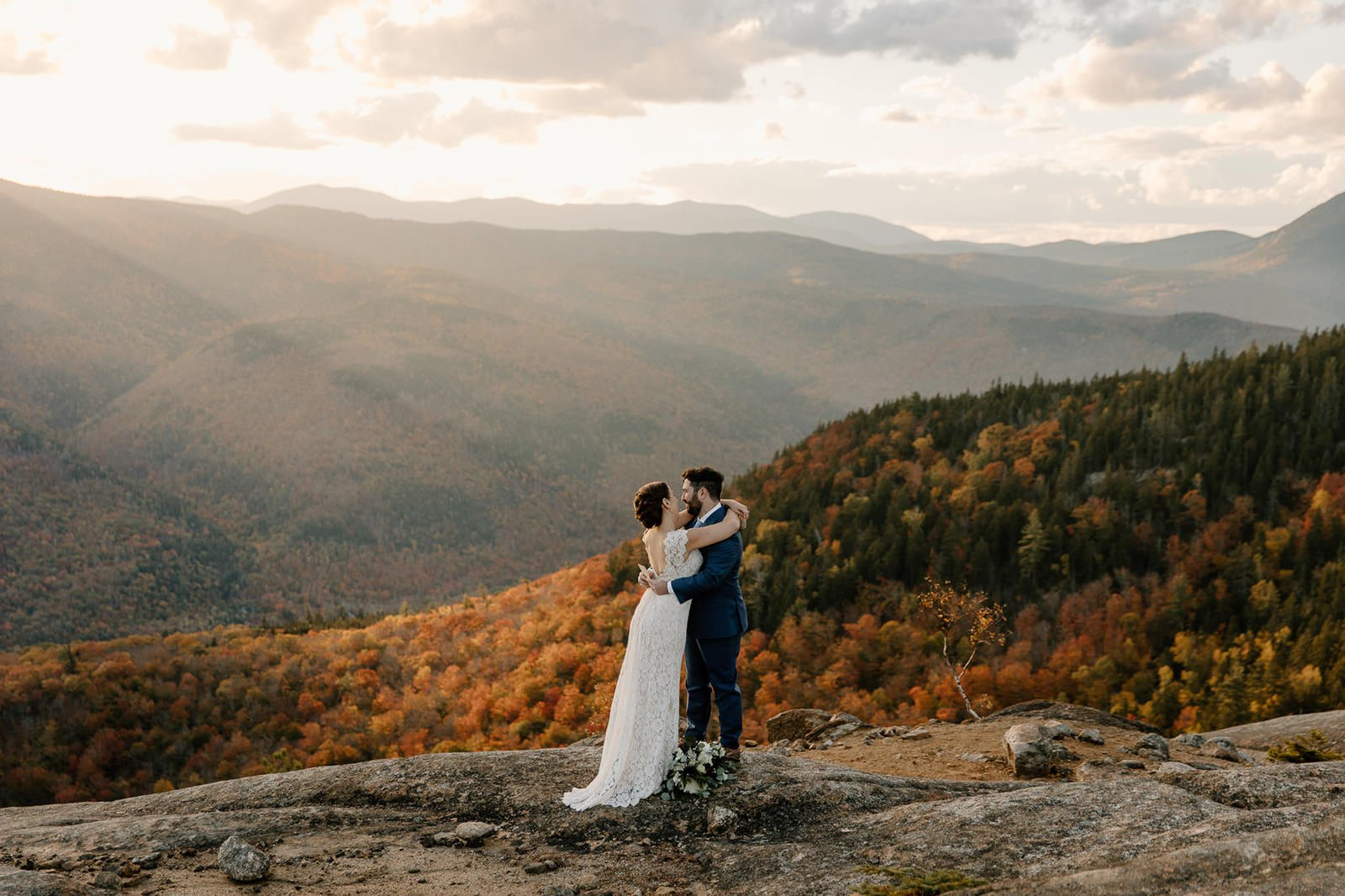 white mountain elopement during the Fall in New Hampshire