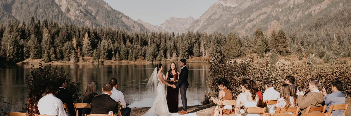 Gold Creek Pond Elopement With Family in Washington