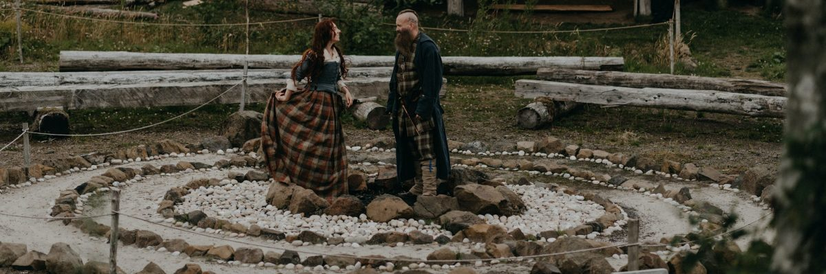 Outlander-Inspired Hand-Fasting Anniversary Renewal in Scotland's Duncarron Medieval Village