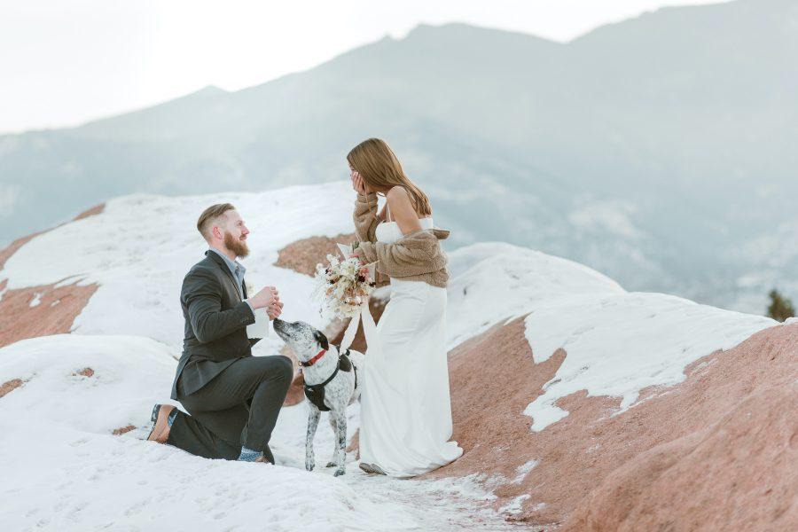 Surprise Proposal at Garden of The Gods