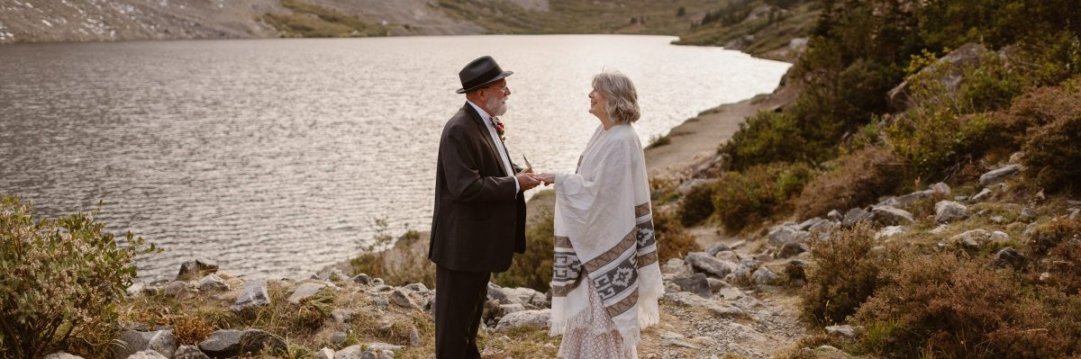 Self Solemnized Elopement Ceremony in The Colorado Mountains