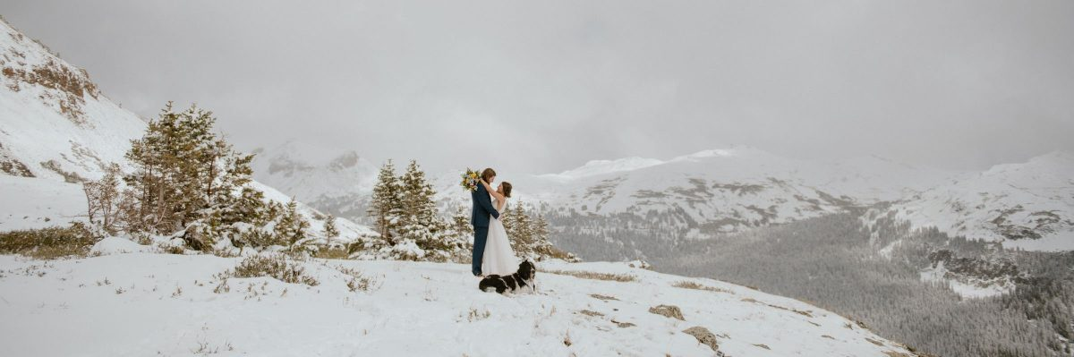 Unexpected Snowstorm During This Elopement in the San Juan Mountains