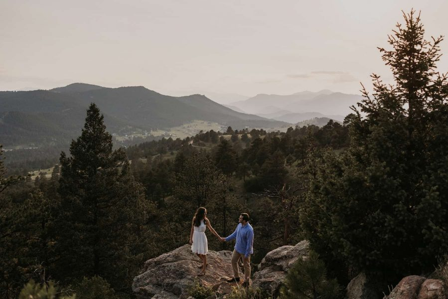 Engagement photography session in Mount Falcon, Denver, CO.