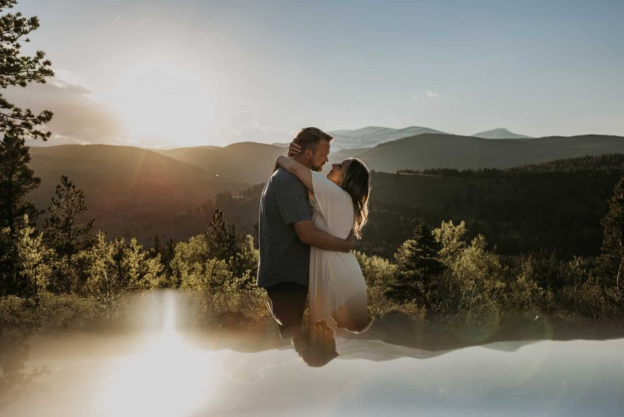 An engagement session in Nederland, CO.