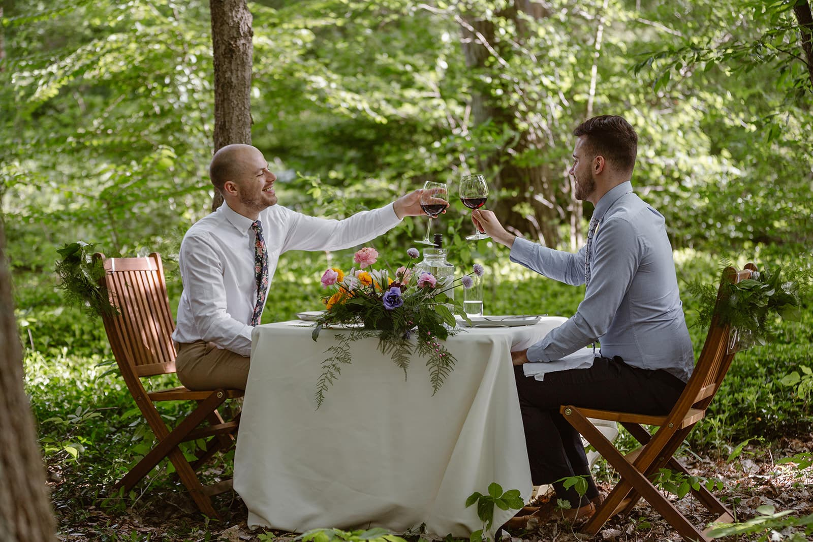 private dinner during elopement