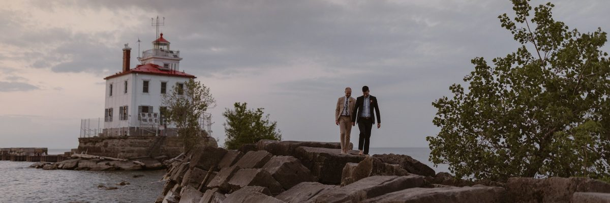 Intimate Dinner and Sunset Elopement at Headlands Beach State Park, OH