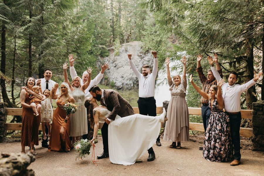 Romantic Sahalie Falls and Loloma Lodge Elopement in OR